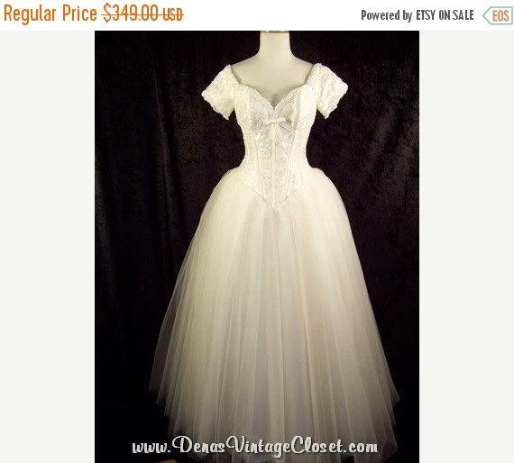 80s vintage wedding dress for sale