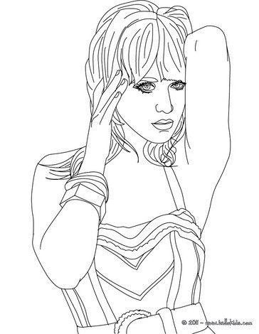 Katy Perry coloring page. More Katy Perry coloring sheets on ...
