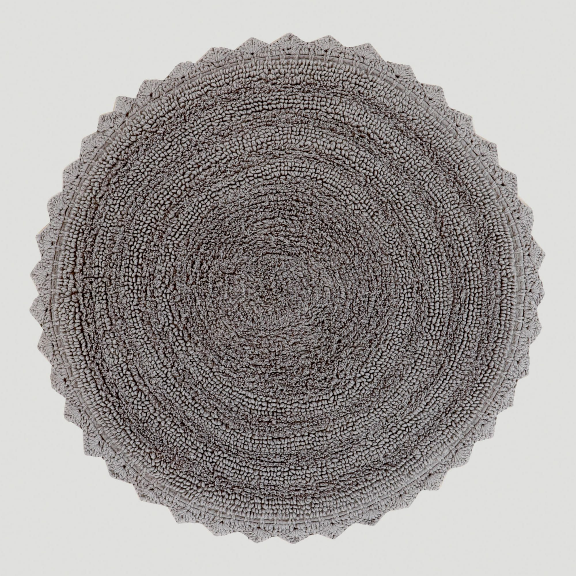 Frost Gray Round Bath Mat   World Market in bathroom with darkish purple  walls. Frost Gray Round Bath Mat   Colors  Purple and Gray