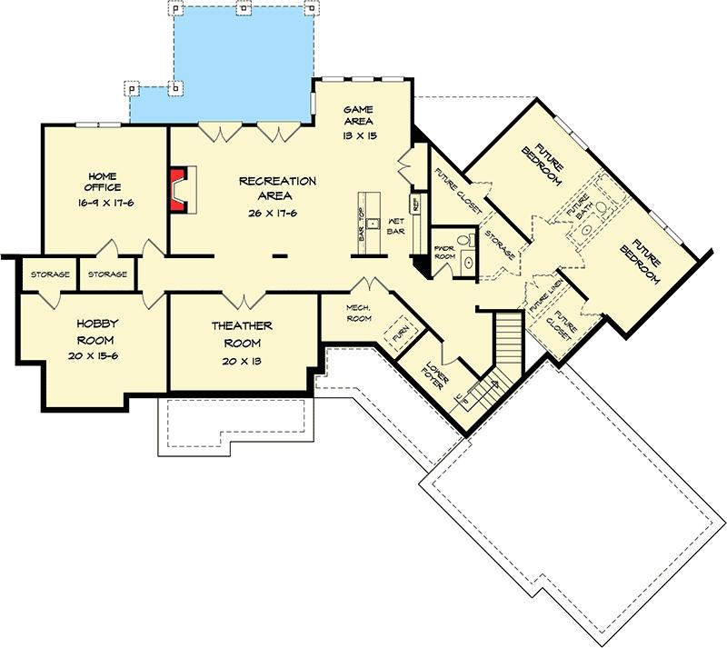 Plan 36055DK: Split Bed Craftsman With Angled Garage
