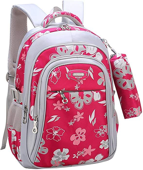 e64fa11db204c Amazon.com | Backpack for Girls, Wraifa Flower Printed Primary ...
