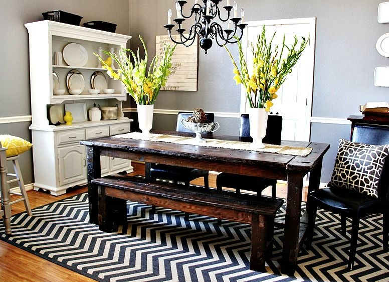 Beforeet After  Farmhouse Table Yellow Dining Room And Room Enchanting Grey And Yellow Dining Room Design Inspiration