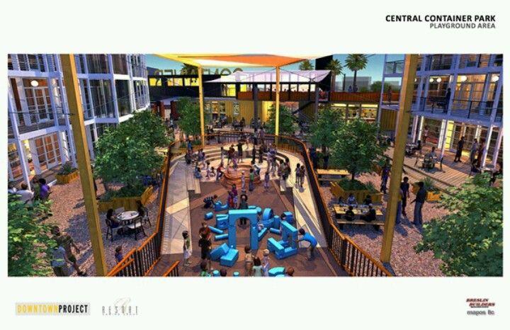Las Vegas Central Container Park Concept Shipping Container Homes Adorable Backyard Landscaping Las Vegas Concept