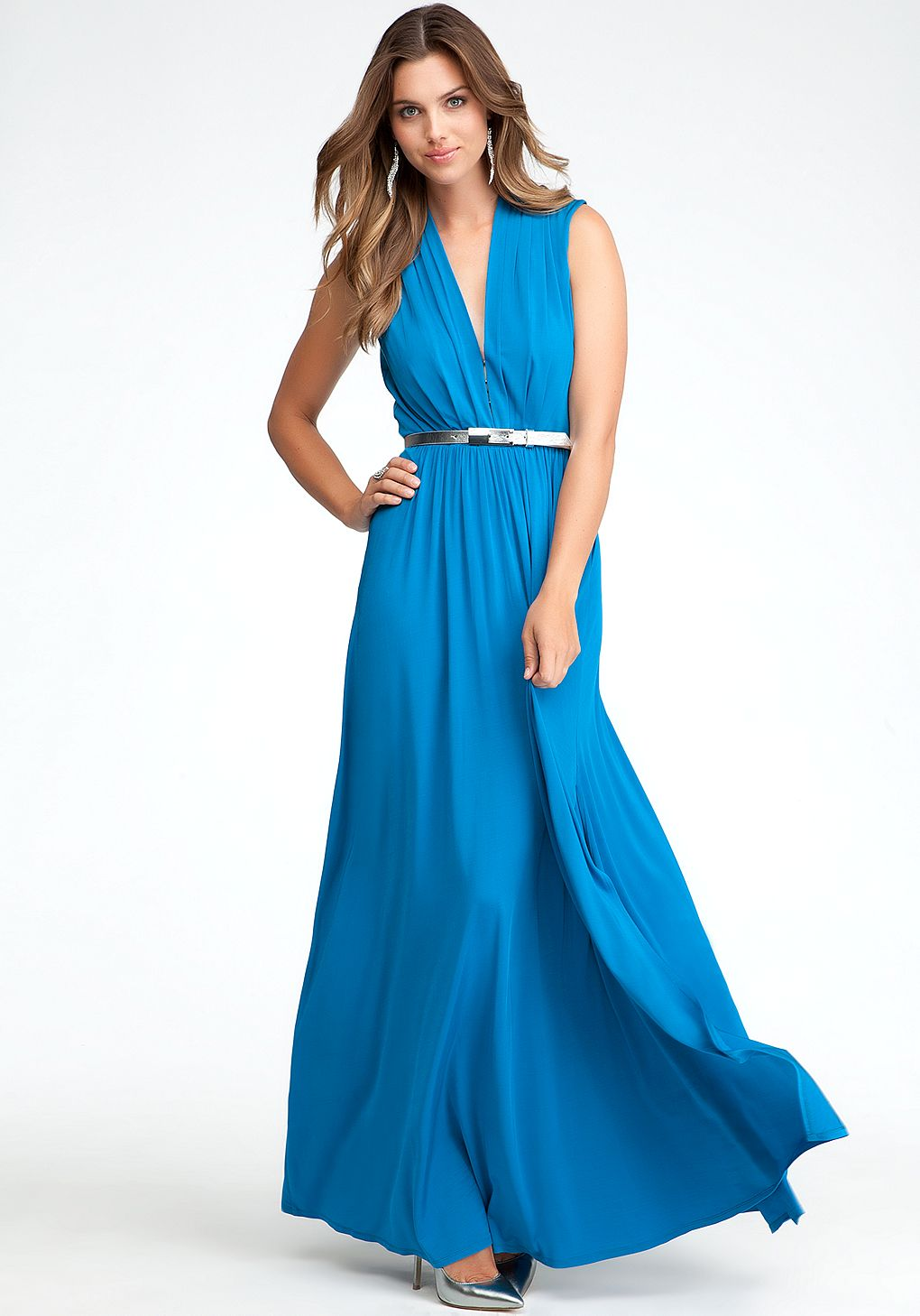 bebe | Deep V-Neck Maxi Dress - ONLINE EXCLUSIVE - View All | My ...