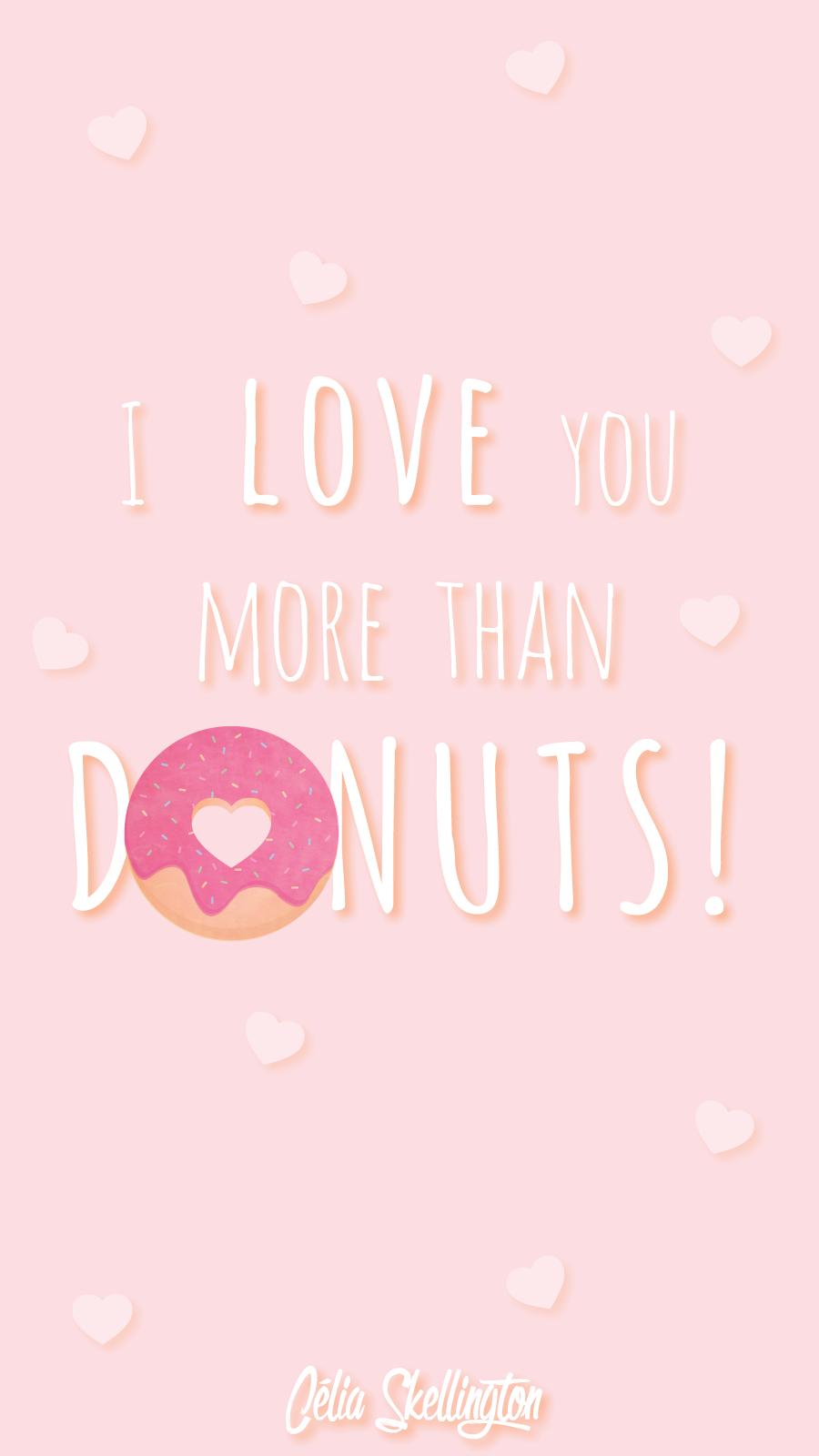 Pink Girl Pastel Donut Love Iphone Home Wallpaper Panpins Iphone
