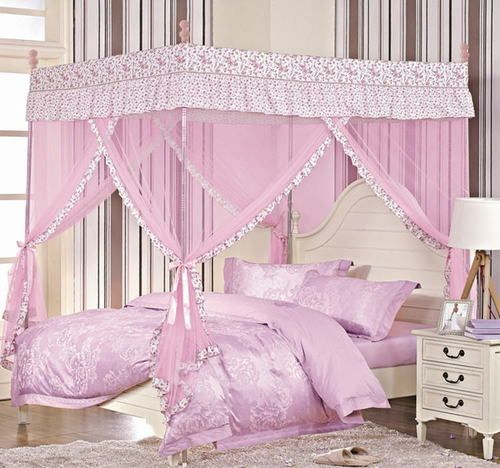 BED CANOPY MOSQUITO NET with STEEL CANOPY FRAME SET for FULL or QUEEN Bed & BED CANOPY MOSQUITO NET with STEEL CANOPY FRAME SET for FULL or ...
