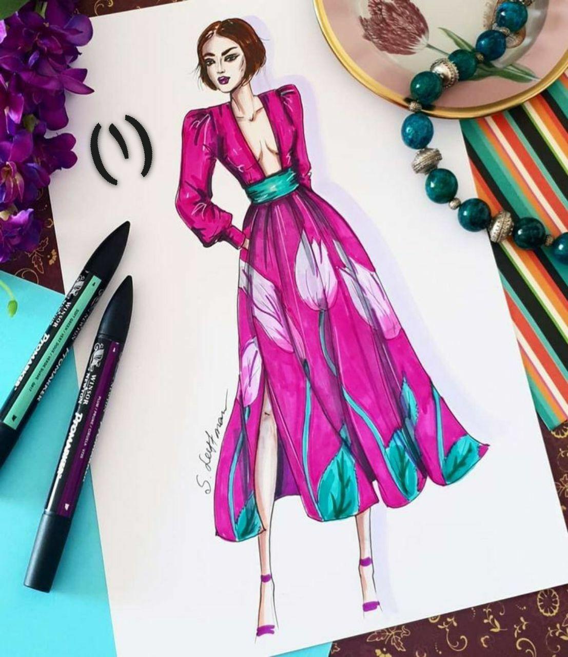 تعليم رسم تصميم الأزياء للمبتدأين يناير 11 2020 في 12 09 Am م Fashion Illustration Sketches Dresses Fashion Illustration Dresses Fashion Illustration