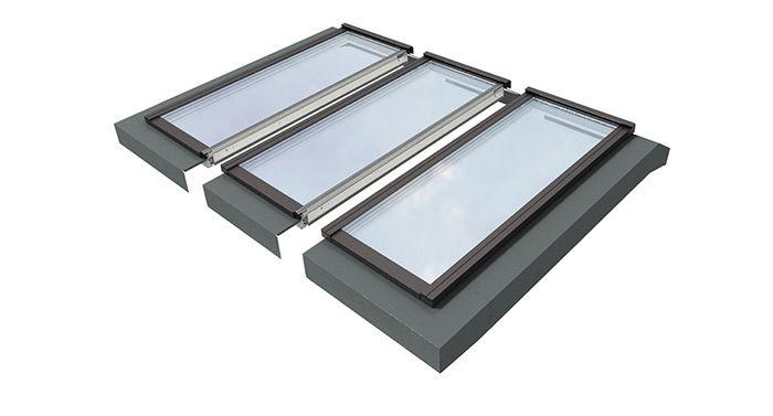 r f rences et prix des verri res modulaires velux pour l 39 habitat en toit plat velux porte. Black Bedroom Furniture Sets. Home Design Ideas