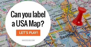 Can You Label A Usa Map Words Knowledge Test Quizzes Us Geography - Online-us-map-test