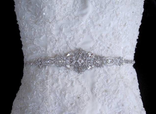 23fd3205cbe Victorian Bridal Brooch Art Deco Bustier Wedding Dress Sash Jewelry Crystal  Belt. $150.00, via Etsy.