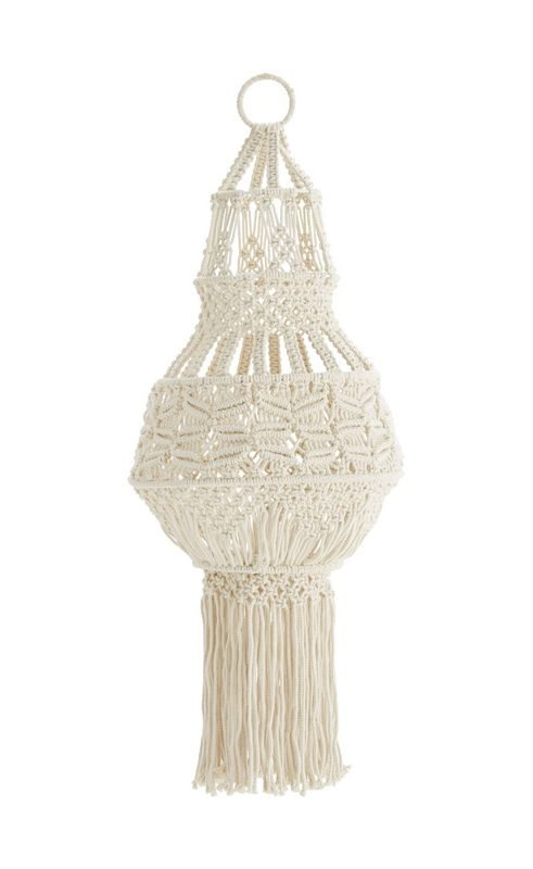 suspension macrame lampe madam stoltz luminaires pinterest luster and decoration. Black Bedroom Furniture Sets. Home Design Ideas