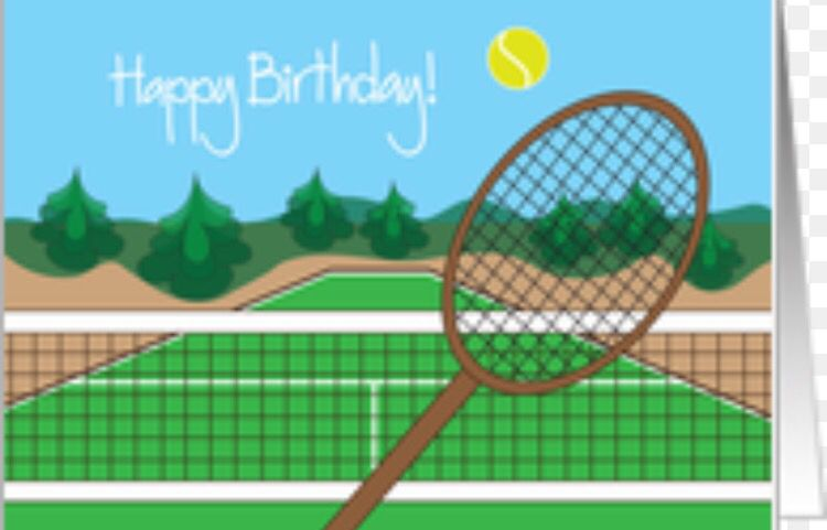 Tennis Card Birthday Tennis Birthday Tennis Happy Birthday