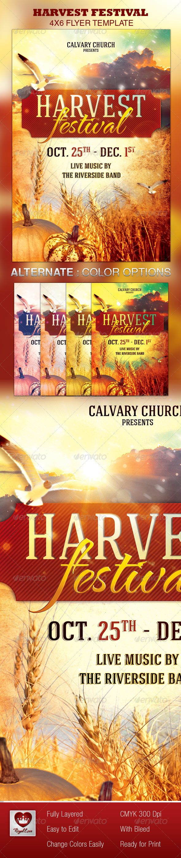 harvest festival church flyer template the flyer festivals and harvest festival church flyer template 6 00
