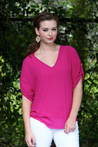 Comfy and Cute hot pink top!