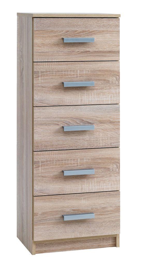 comod 5 sertare kabdrup ngust stejar jysk - Bathroom Cabinets Jysk