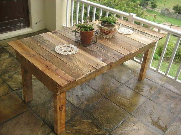 Table manger en palettes de bois diy deco tables en palettes de bois mobilier palette et - Table de cuisine en palette ...