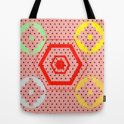 Fun with retro and vintage pattern by healinglove Tote Bag by Healinglove art products - $22.00