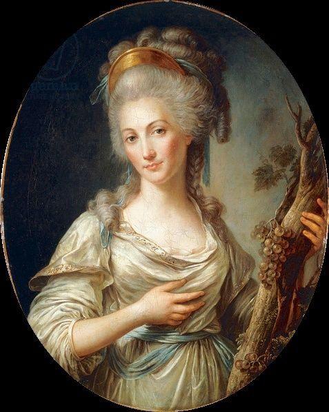 attribué à Antoine Vestier (1740-1824), Mme de Lamballe. | Art historique,  Portrait peinture, Marie thérèse
