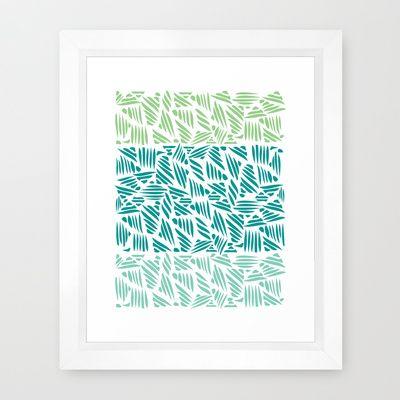 Bamboo Forest Framed Art Print #forest #green #bamboo #organic #design #poster #print #home #decor #nature