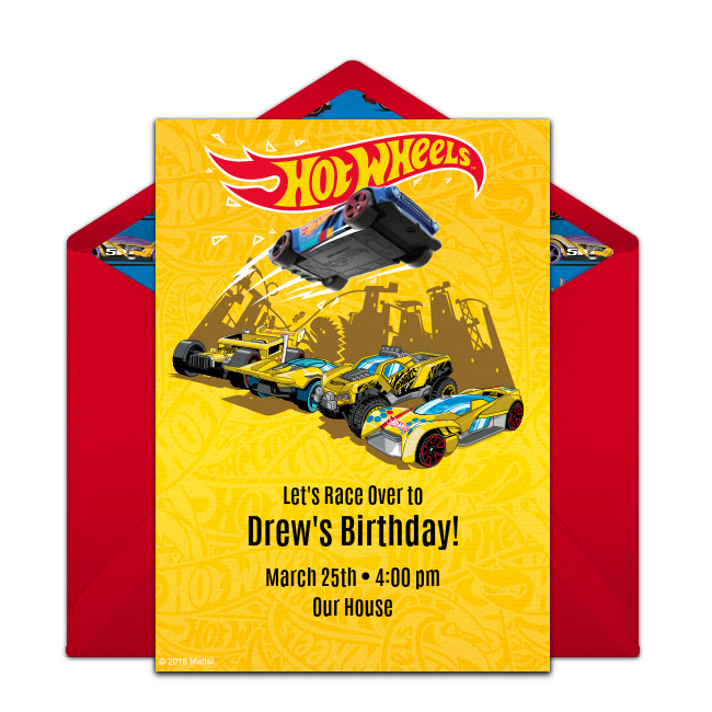 Free Hot Wheels Night Shifter Invitations Hot Wheels Invitations Hot Wheels Birthday Free Birthday Stuff