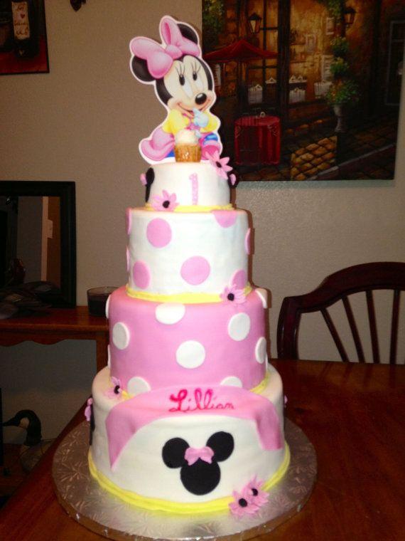 Torta de Minnie Mouse Baby para Baby Shower o por