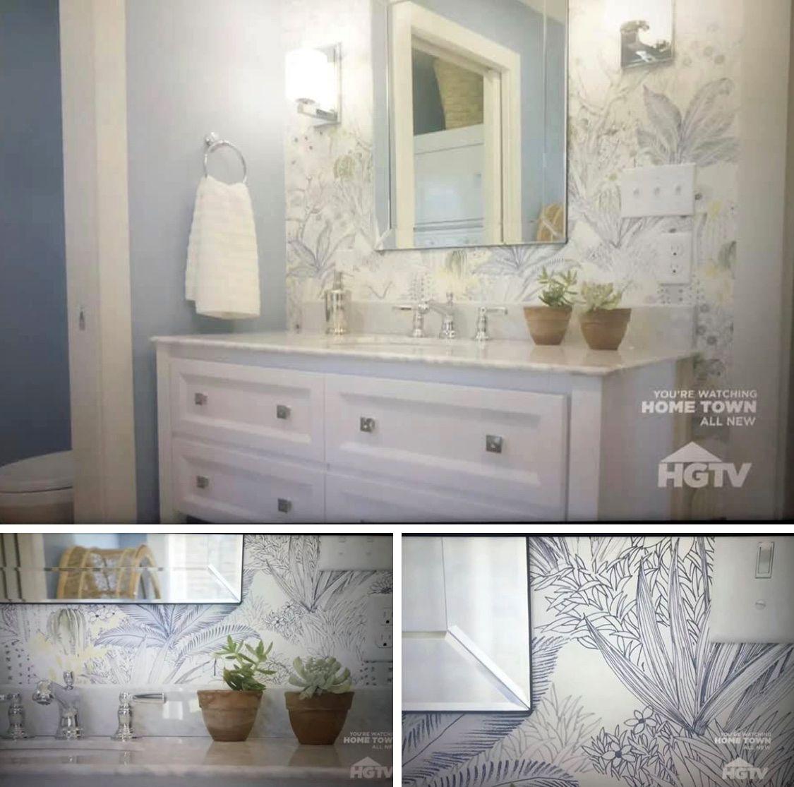 Flowering Desert Wallpaper By York Lelands Wallpaper Home Town Hgtv Bathroom Addition Home Decor Tips