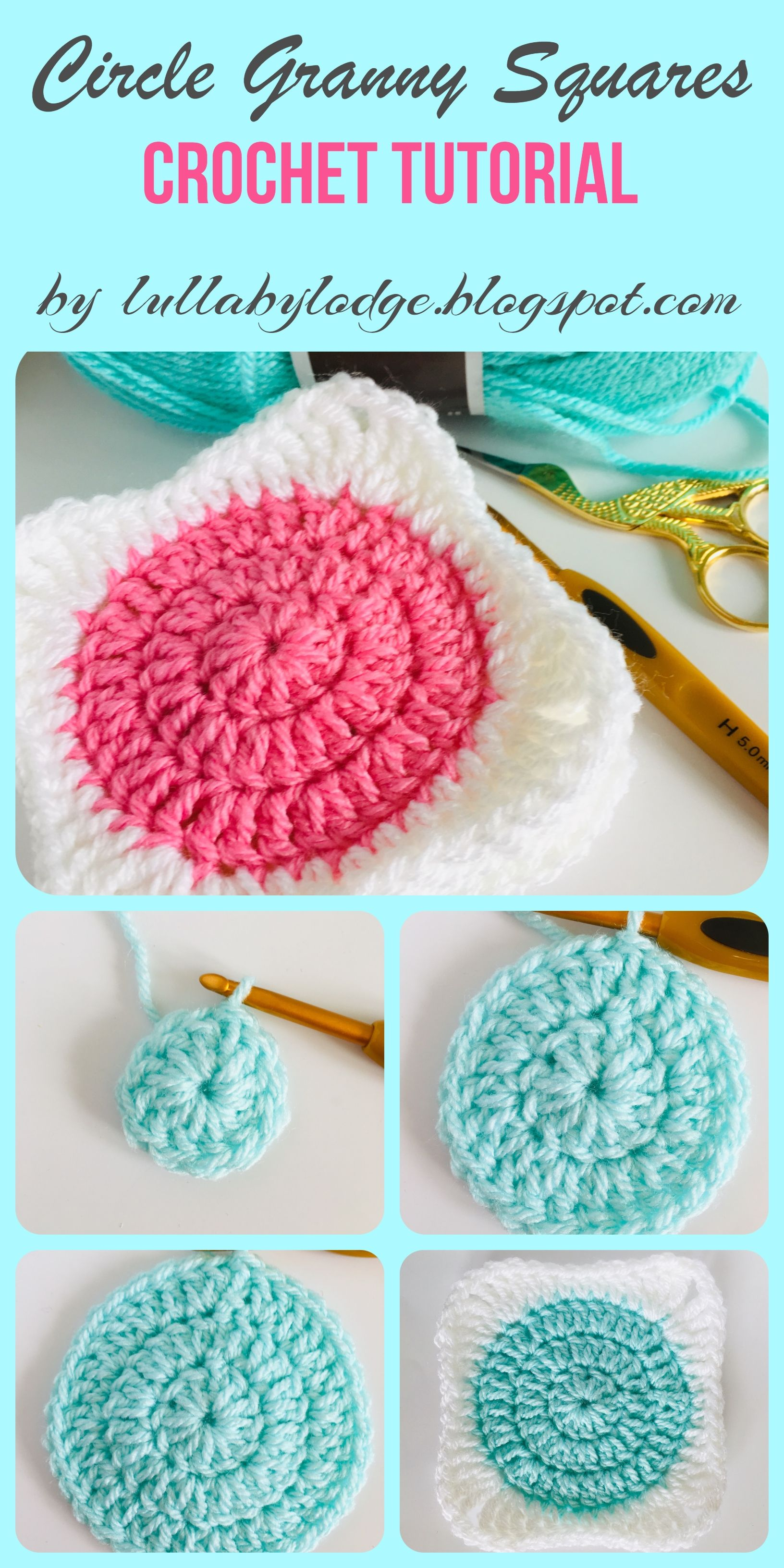How To Turn Your Circles Into Granny Squares Crochet Tutorial By Lullaby Lodge Quilting For Beginners Crochet Tutorial Crochet Circles