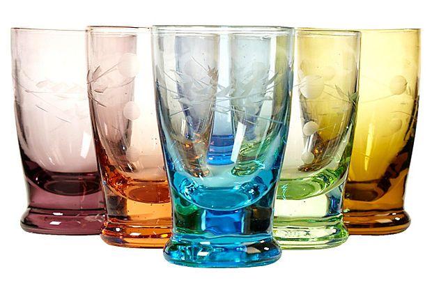 Multicolor Shot Glasses, S/6 on OneKingsLane.com