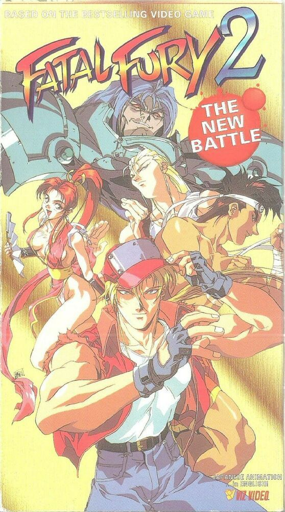 Anime VHS Tape Fatal Fury 2 The New Battle English