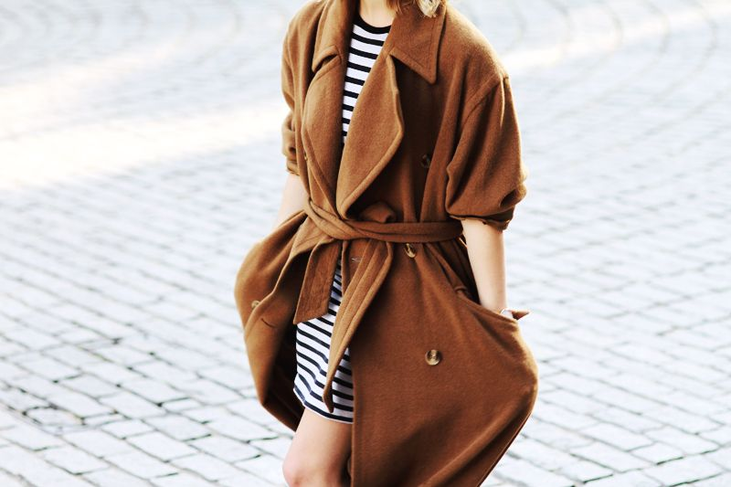 Stripes and coat