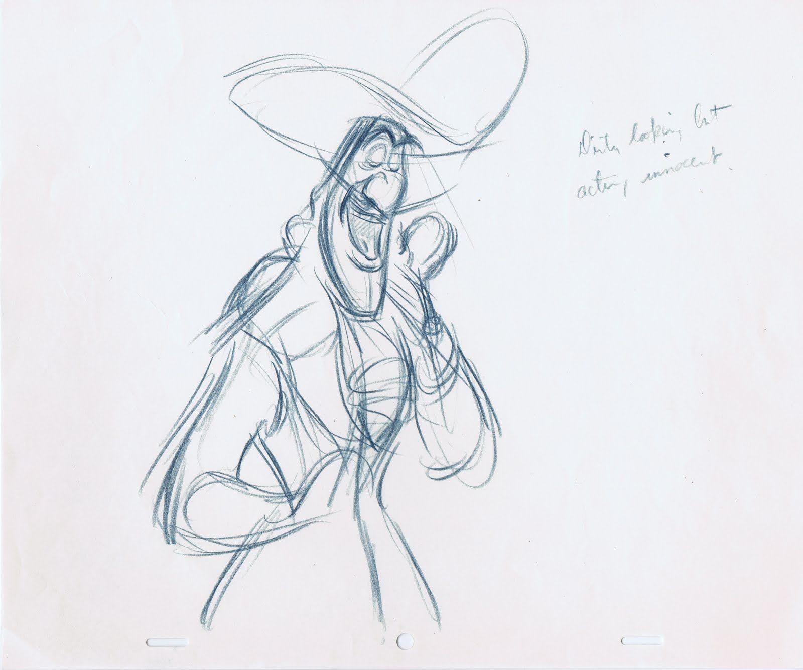 Drawing of Captain Hook by: Frank Thomas (via Deja View)