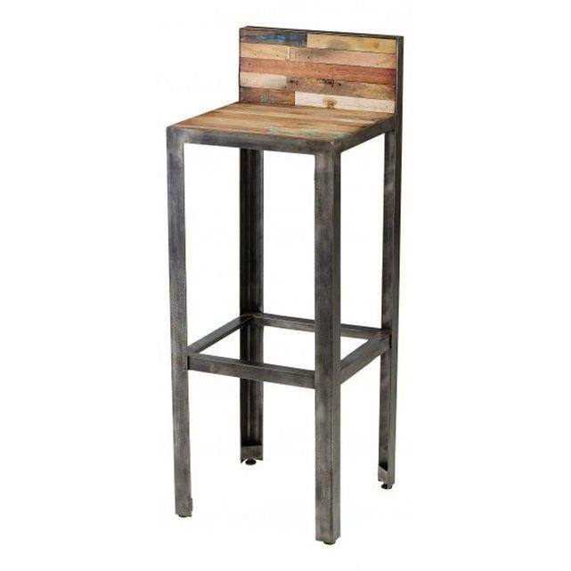 ensemble bar besi 1 table + 2 tabourets | bar et tables - Chaise Metal Industriel Pas Cher