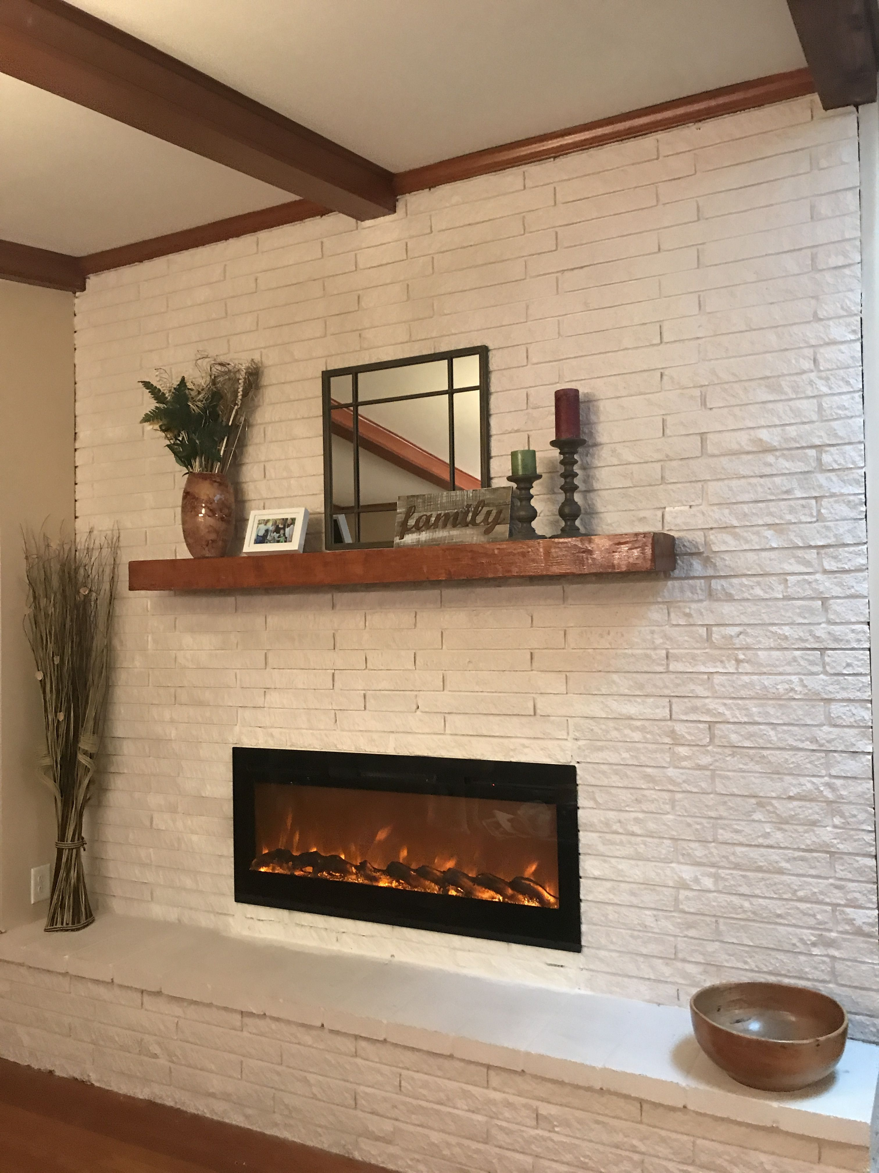 Mid Century Modern Fireplace And Mantel