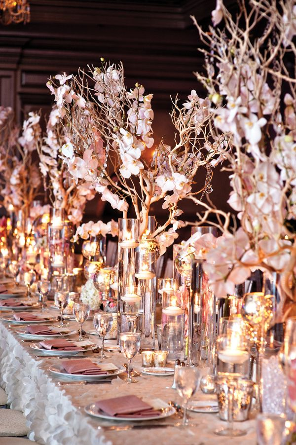 Platinum And Blush Old Hollywood Wedding In Atlanta Wedding Decor