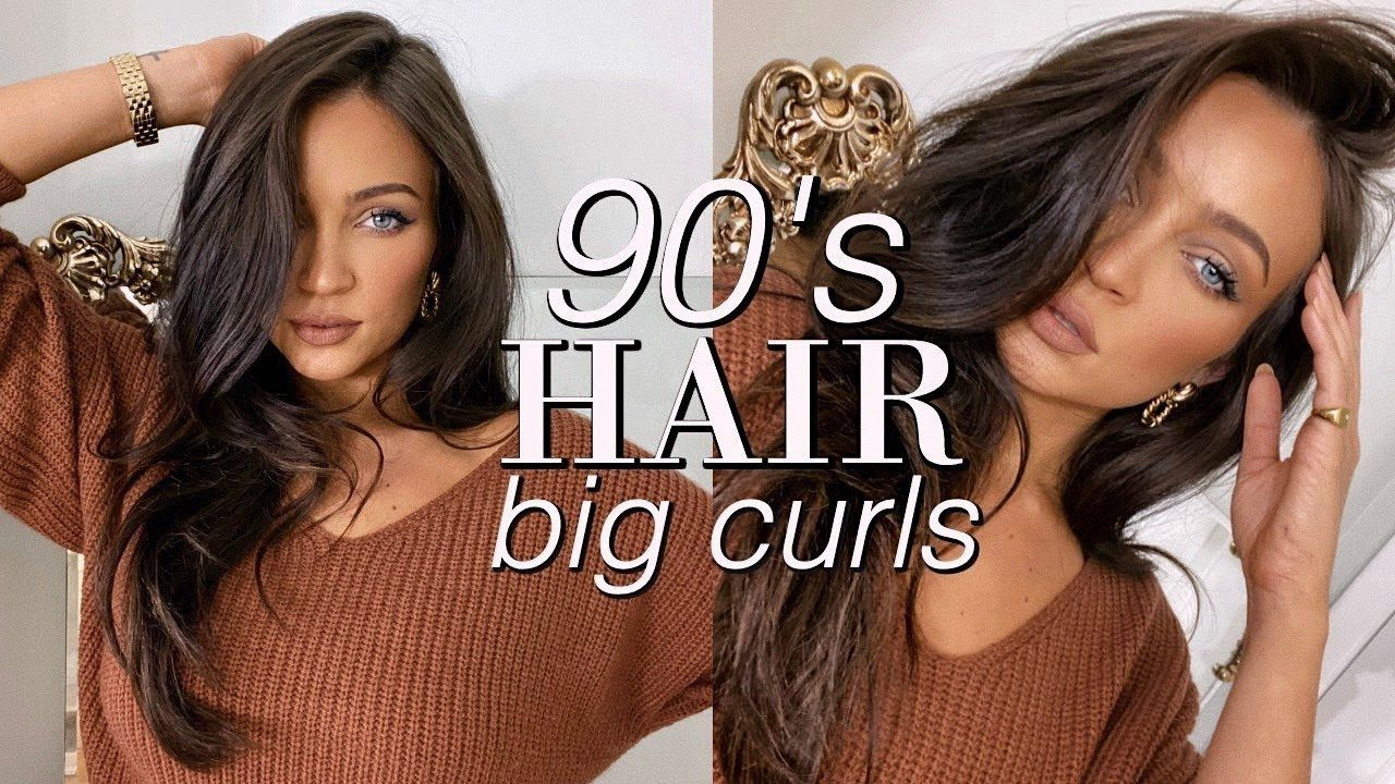 90s model inspired hair: voluminous curls w/rollers tutorial