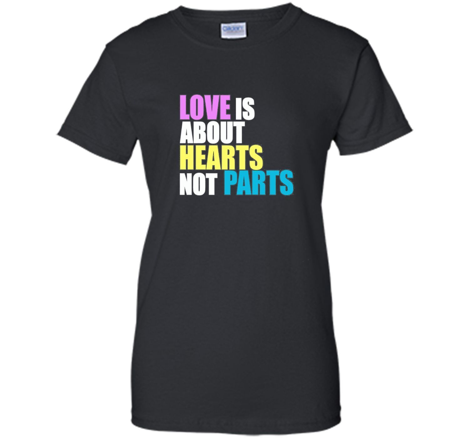 Love is about Hearts Not Parts, LGBT Pride Equality T-Shirt