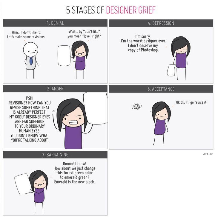5 Stages of Designer Grief interior design school was exactly