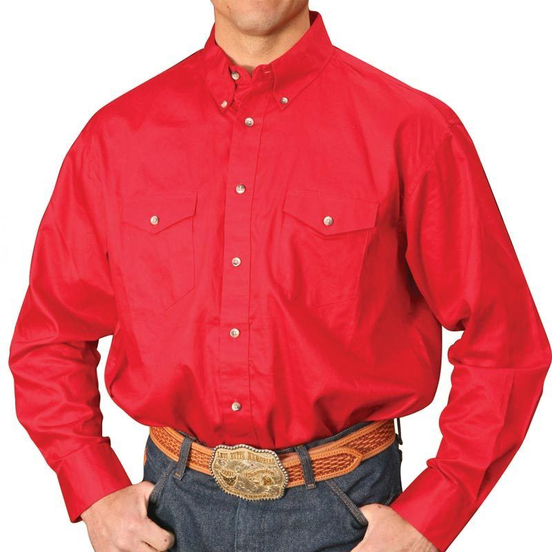 334a636c Men's Wrangler Painted Desert Red Shirt | Men's Clothing | Red shirt ...