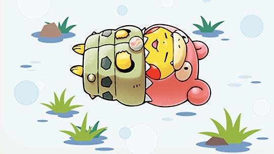 Pikachu dressed as Mega Slowbro
