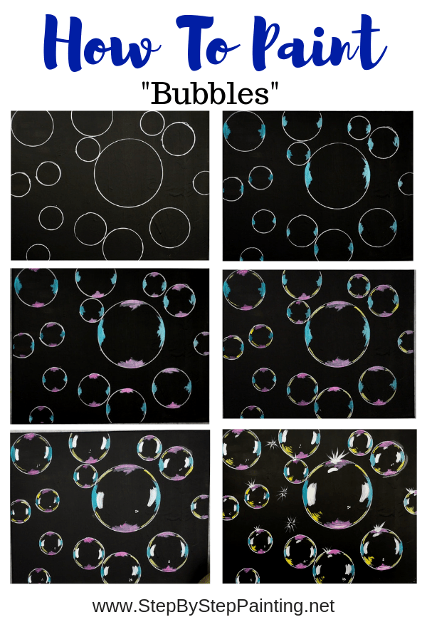 Photo of Bubble Painting – Step By Step Acrylic Tutorial – With Pictures