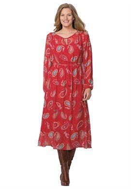 Plus Size Peasant dress