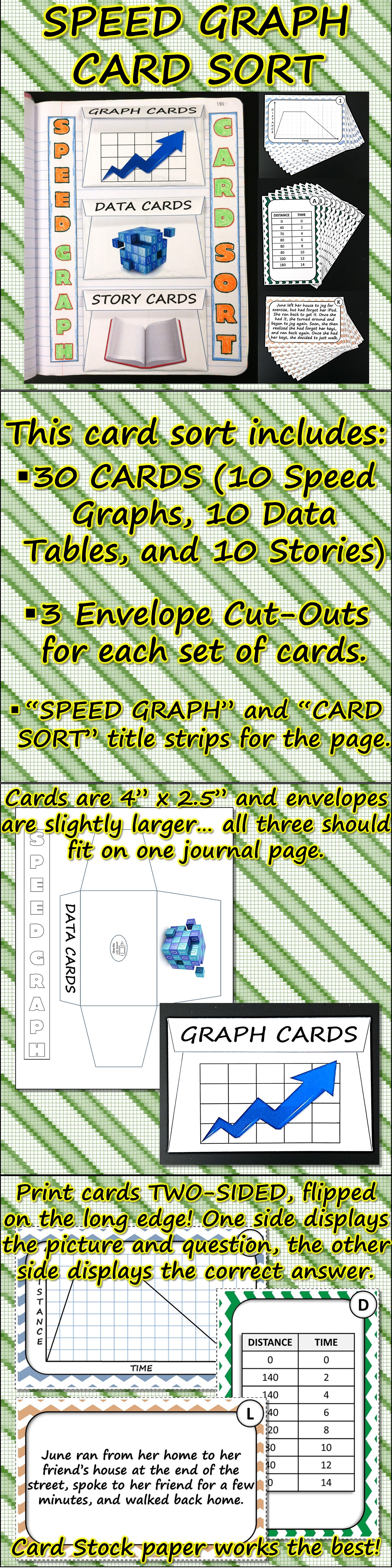 Science Journal Speed Graph Card Sort