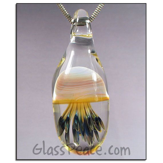 Sale glass pendant blown glass jellyfish necklace by glass peace sale glass pendant blown glass jellyfish necklace by glass peace 1700 aloadofball Gallery