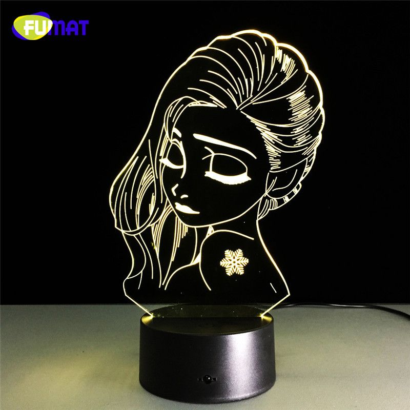 Fumat Girl Night Light Cute Girl 3d Lamp Teenage Bedside Lights Lampara With Touch Changeable Gift Usb Charging Rem Led Night Lamp Night Light Led Night Light
