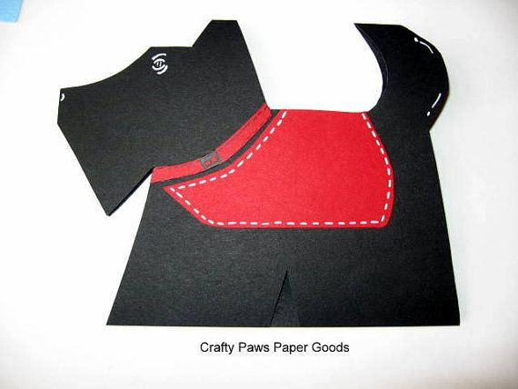 """Scottie shaped card measures approx 4""""x5"""".  Great for a new puppy or thank you for a pet sitter."""