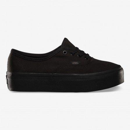 zapatillas vans negras suela marron