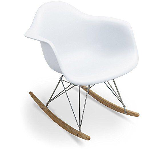 Balançoire RAR Style - Blanc - Inspiration Charles&Ray Eames - 69.5 cm x 63 cm x 69 cm - SANTANI MOBILI