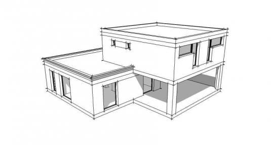 Plan de maison contemporaine, pouvant être adaptée en maison - image de plan de maison