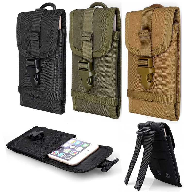 Tactical Belt Pouch Army Molle Military Hiking Camp Phone Case Pack Waist Bag