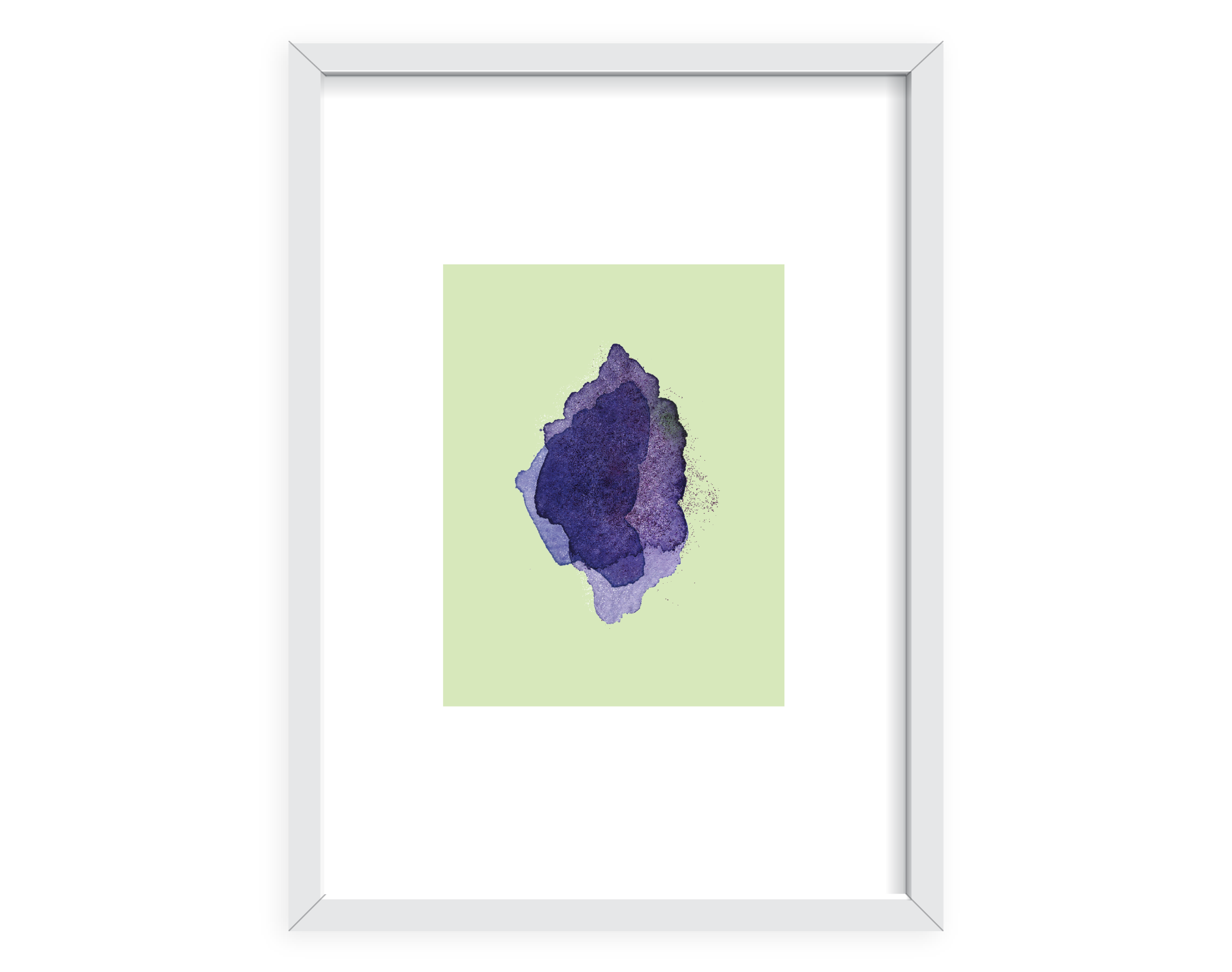 green water color style poster- wall art